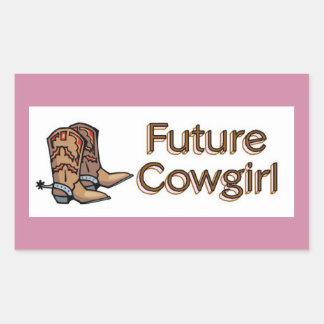 Future Cowgirl Rectangular Sticker