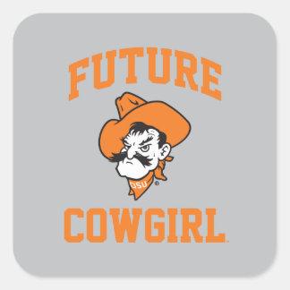 Future Cowgirl Square Sticker