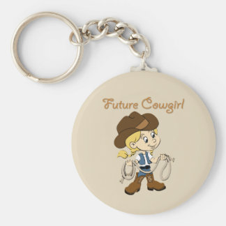 Future Cowgirl When I Grow Up Keychain