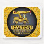 Future Crane Truck Driver Mouse Pad