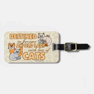 Future Crazy Cat Lady Funny Design Luggage Tag