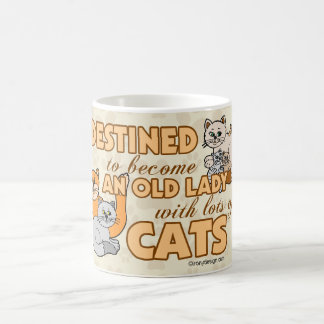 Future Crazy Cat Lady Funny Saying Design Coffee Mug