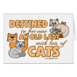 Future Crazy Cat Lady Funny Saying Design Greeting Card