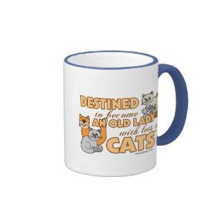 Future Crazy Cat Lady Funny Saying Design Ringer Coffee Mug
