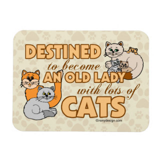 Future Crazy Cat Lady Funny Saying Design Rectangular Photo Magnet