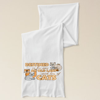 Future Crazy Cat Lady Funny Saying Design Scarf