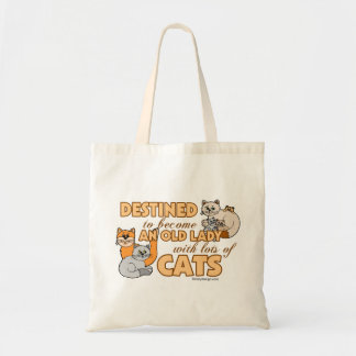 Future Crazy Cat Lady Funny Saying Design Tote Bag