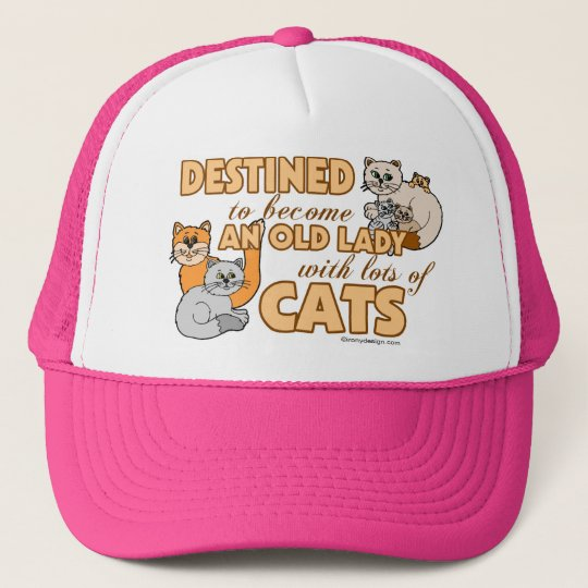 Future Crazy Cat Lady Funny Saying Design Trucker Hat