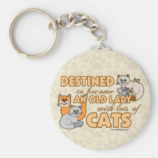 Future Crazy Cat Lady Funny Saying Keychain