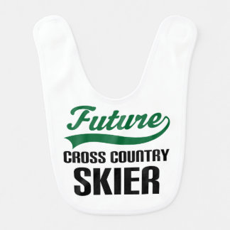 Future Cross Country Skier Baby Bib