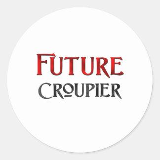 Future Croupier Round Stickers