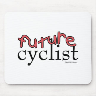 Future Cyclist - Pink Mouse Pad