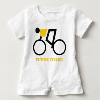 Future cyclist riding his bicycle custom baby romper