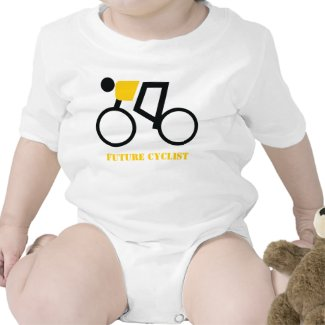 Future cyclist riding his bicycle custom t shirts