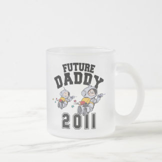 Future Daddy 2011 Frosted Glass Coffee Mug