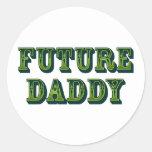 Future Daddy Classic Round Sticker