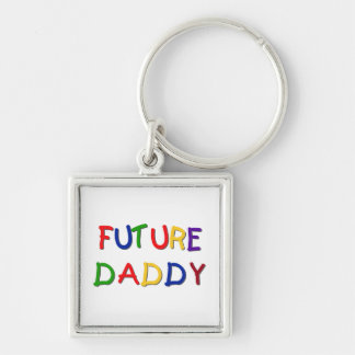 Future Daddy Primary Colors T-shirts and Gifts Keychain
