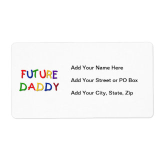 Future Daddy Primary Colors T-shirts and Gifts Shipping Label