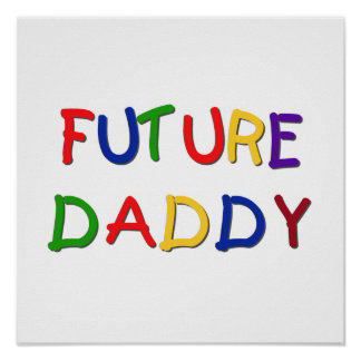 Future Daddy Primary Colors T-shirts and Gifts Print