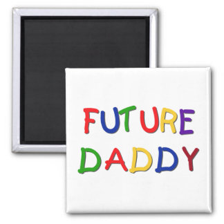 Future Daddy Primary Colors Tshirts and Gifts Magnet