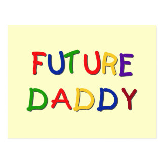 Future Daddy Primary Colors Tshirts and Gifts Postcard