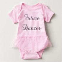 Future Dancer Baby Outfit w/tutu Baby Bodysuit