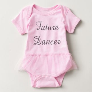 Future Dancer Baby Outfit w/tutu Baby Bodysuit