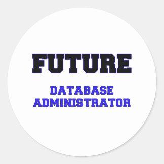 Future Database Administrator Round Stickers