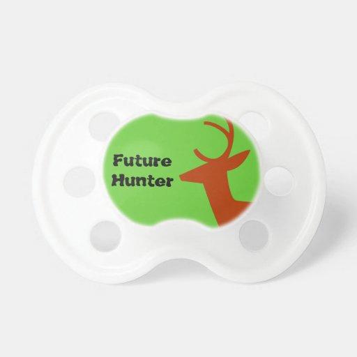 Future Deer Hunter Silhouette Baby Boy Green Brown Baby Pacifier