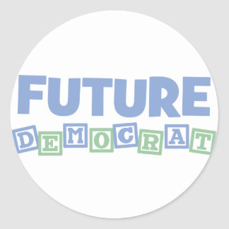 Future Democrat Blocks Classic Round Sticker