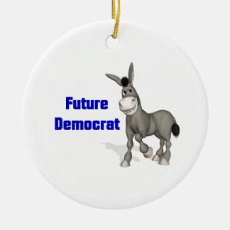 Future Democrat Ceramic Ornament