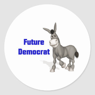 Future Democrat Classic Round Sticker