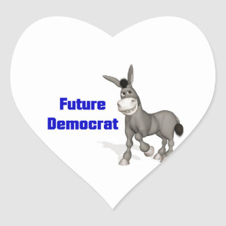 Future Democrat Heart Sticker