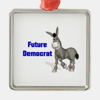 Future Democrat Metal Ornament