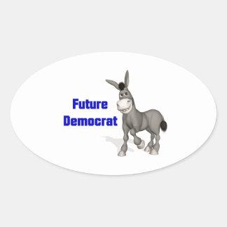 Future Democrat Oval Sticker
