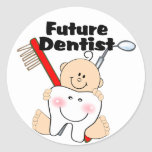 Future Dentist Classic Round Sticker