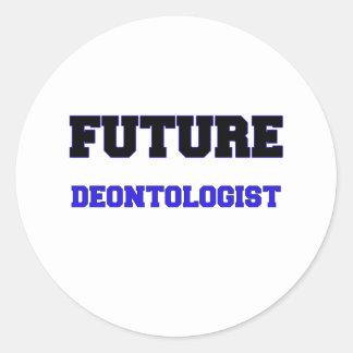 Future Deontologist Round Sticker