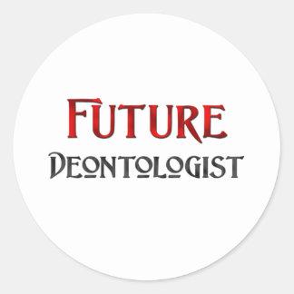 Future Deontologist Round Stickers