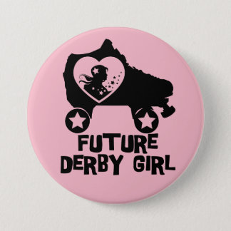 Future Derby Girl, Roller Skating design for Kids Pinback Button