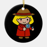 Future Detective / Forensic Scientist / P.I. Double-Sided Ceramic Round Christmas Ornament