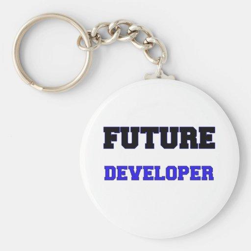Future Developer Basic Round Button Keychain