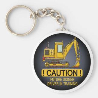 Future Digger Shovel Driver Key Chain