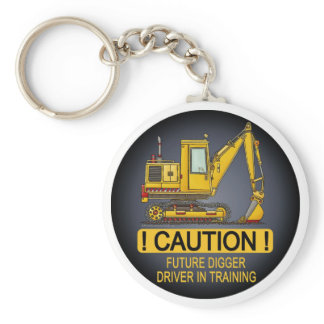 Future Digger Shovel Driver Key Chain