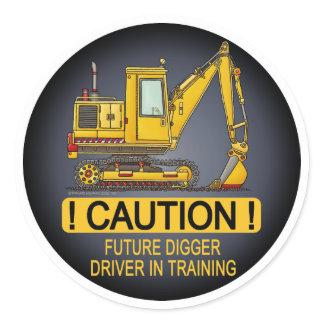 Future Digger Shovel Driver Kids Sticker