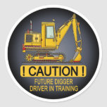 Future Digger Shovel Driver Kids Sticker