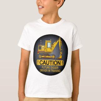 Future Digger Shovel Driver Kids T-Shirt