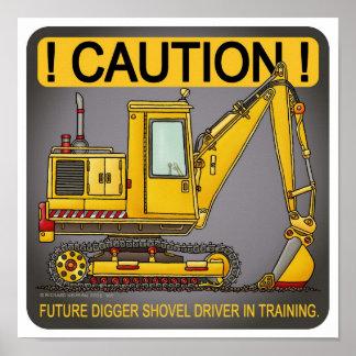 Future Digger Shovel Driver Poster Print