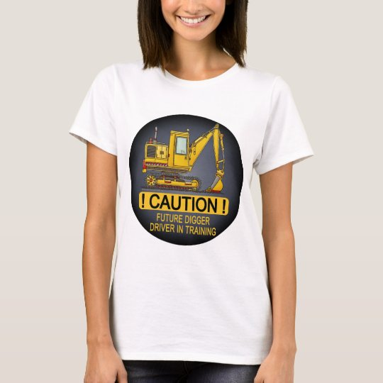 Future Digger Shovel Driver Womens T-Shirt