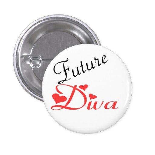 Future Diva 1 Inch Round Button