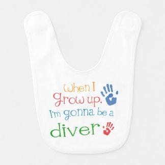 Future Diver Baby Bib